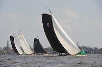 SKUTSJESILEN: LANGWEER: Langwarder Wielen, 13-04-2013, Skûtsjesilen Langwar, skûtsje De Swan fan Donia (Langweer), ©foto Martin de Jong