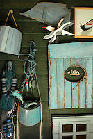 Marine memorabilia can be found in every corner of the beach house