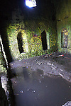 Ruined 18th-century hunting lodge on Montpellier Hill near Rathfarnham, Dublin, known as The Hellfire Club, where it is alleged that 18th century noblemen practiced satanism, and where the devil is supposed to have appeared during a card game - then vanished in a ball of flame.