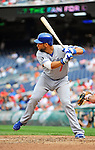 5 September 2011: Los Angeles Dodgers infielder James Loney in action against the Washington Nationals at Nationals Park in Los Angeles, District of Columbia. The Nationals defeated the Dodgers 7-2 in the first game of their 4-game series. Mandatory Credit: Ed Wolfstein Photo