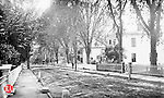 A view of Prospect Street in Waterbury, circa 1889. Dr. Beckwith's home is second on the right.