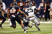 SAN ANTONIO, TX - OCTOBER 27, 2012: The Utah State University Aggies versus The University of Texas at San Antonio Roadrunners Football at the Alamodome. (Photo by Jeff Huehn)