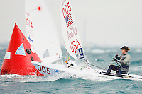 20111207, Perth, Australia: PERTH 2011 ISAF SAILING WORLD CHAMPIONSHIPS - 1200 sailors from 79 countries compete to qualify their nation for the 2012 Olympics. Racing was resumed today after yesterday's rain and thunderstorms.  Paige RAILEY (USA). Photo: Mick Anderson/SAILINGPIX.DK
