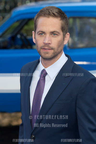 Paul Walker arriving for the 'Fast And Furious 6' Premiere, at Empire Leicester Square, London. 07/05/2013 Picture by: Simon Burchell / Featureflash