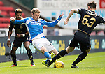 St Johnstone v Celtic&hellip;20.08.16..  McDiarmid Park  SPFL<br />Savid Wotherspoon tackles Kieran Tierney<br />Picture by Graeme Hart.<br />Copyright Perthshire Picture Agency<br />Tel: 01738 623350  Mobile: 07990 594431