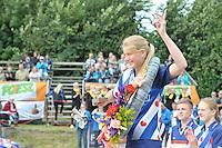 FIERLJEPPEN: WINSUM: Accommodatie St. Japik, 13-08-2016, FK Fierljeppen, Sigrid Bokma, ©foto Martin de Jong