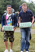 08/07/'10 Arriving with the supplies pictured arriving at Punchestown, Co. Kildare this evening for the start of the Oxegen Festival 2010...Picture Colin Keegan, Collins, Dublin