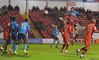 Fleetwood Town's Cian Bolger scores his team's opening goal<br /> <br /> Photographer Dave Howarth/CameraSport<br /> <br /> The EFL Sky Bet League One - Walsall v Fleetwood Town - Tuesday 14th March 2017 - Banks's Stadium - Walsall<br /> <br /> World Copyright &copy; 2017 CameraSport. All rights reserved. 43 Linden Ave. Countesthorpe. Leicester. England. LE8 5PG - Tel: +44 (0) 116 277 4147 - admin@camerasport.com - www.camerasport.com