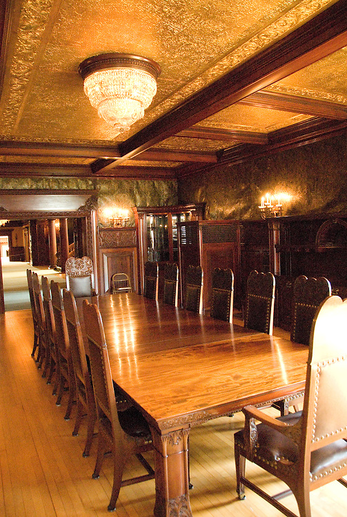 Minnesota, Twin Cities, Minneapolis-Saint Paul:  Interior of the mansion of railroad tycoon James J Hill on Summit Avenue in Saint Paul..Photo mnqual321-75318..Photo copyright Lee Foster, www.fostertravel.com, 510-549-2202, lee@fostertravel.com.