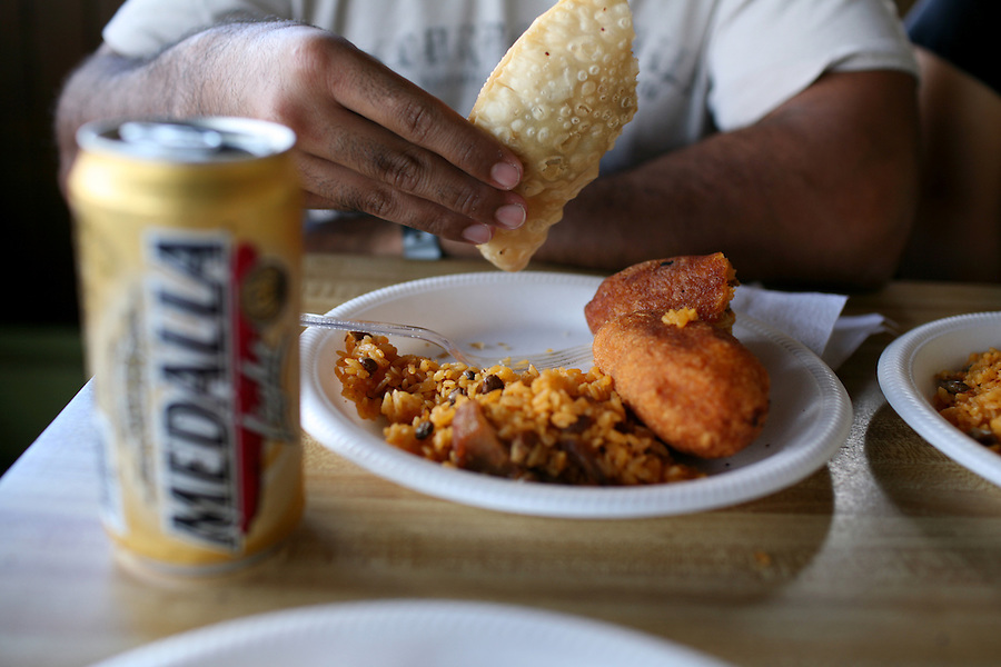 Comida tipica, or local foods, in Jayuya, Puerto Rico, on Sunday, November 16, 2008.