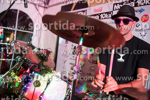 Music band Joske Vn performs at Nocna 10ka 2015, traditional running around Bled's lake, on July 11, 2015 in Bled,  Slovenia. Photo by Vid Ponikvar / Sportida