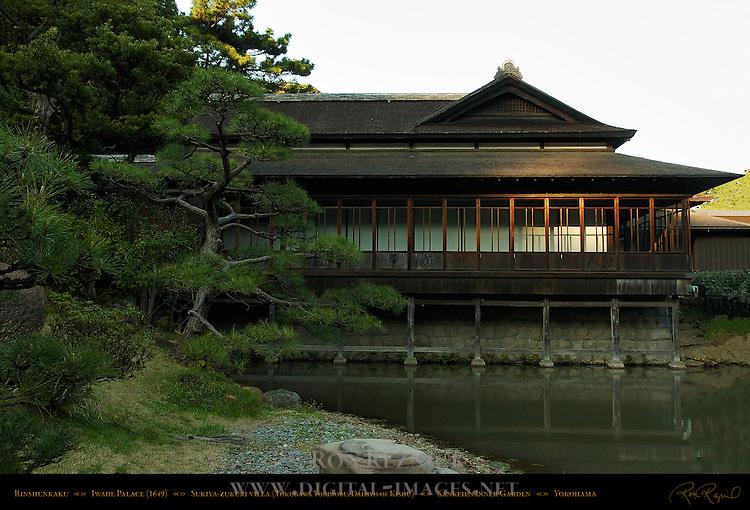 Rinshunkaku Iwade Palace 1649 Sukiya-zukuri Villa of Tokugawa Yorinobu Daimyo of Kishu Sankeien Gardens Yokohama Japan