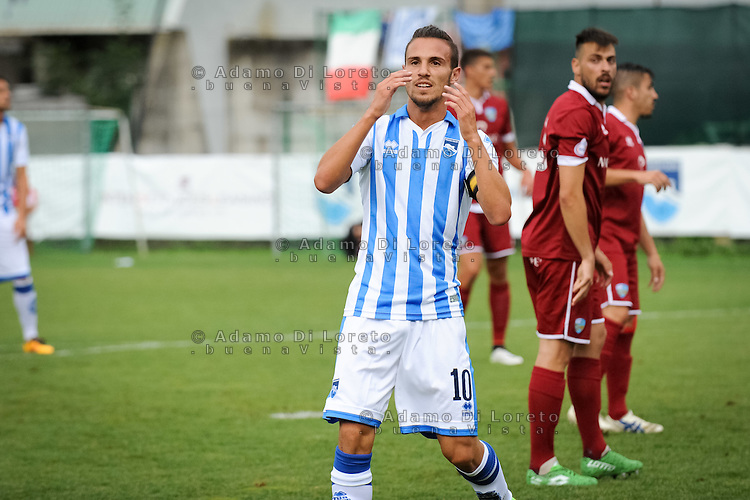 Verre Valerio (Pescara)  during the withdrawal preseason Serie A; match friendly between Pescara vs San Nicolò, on July 28, 2016. Photo: Adamo Di Loreto/BuenaVista*photo