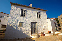 Narrow streets & houses of Hydra, Greek Cyclades Islands