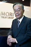 Akira Mori, president and CEO of the Mori Trust Co., poses for a photo at the company's headquarters in Tokyo, Japan, on Thursday, May 19, 2011. Photographer: Robert Gilhooly