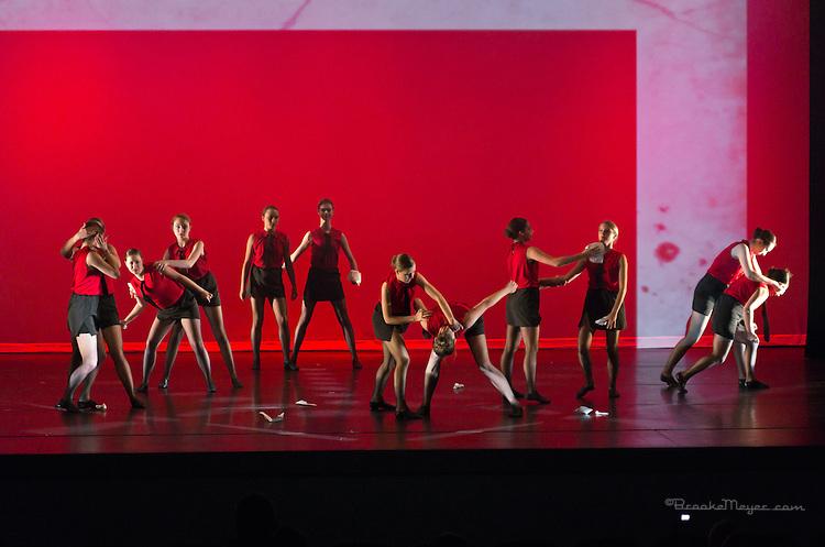 """Thursday Rehearsal, 3D Project Jazz Company """"X"""", 10th Annual Spring Showcase, Cary Arts Center, Cary, North Carolina."""