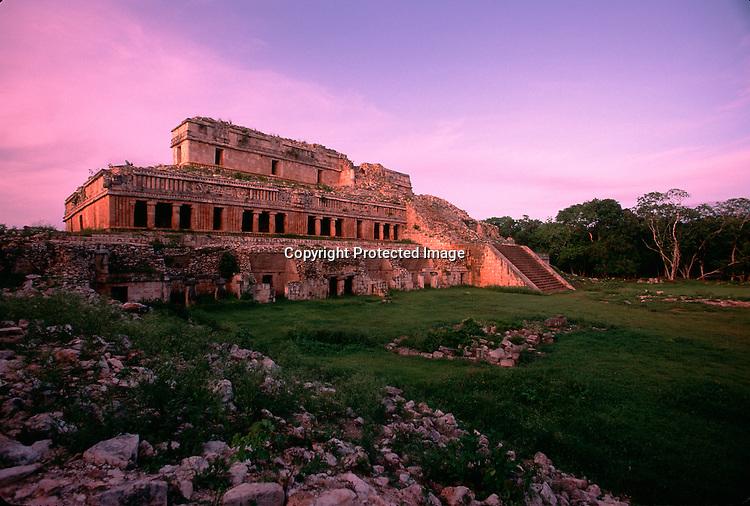 Maya, Mexico, Yucatan, Sayil, Puuc region, temple