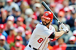 12 April 2012: Washington Nationals second baseman Danny Espinosa in action against the Cincinnati Reds at Nationals Park in Washington, DC. The Nationals defeated the Reds 3-2 in 10 innings to take the first game of their 4-game series. Mandatory Credit: Ed Wolfstein Photo