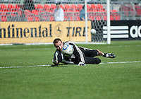 17 September 2011: Colorado Rapids goalkeeper Matt Pickens #18 during the warm-up in an MLS game between the Colorado Rapids and the Toronto FC at BMO Field in Toronto, Ontario Canada..Toronto FC won 2-1.