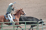 Chase Wortman competes in the Ranch Horse Class at the Minden Ranch Rodeo on Saturday, July 21, 2012..Photo by Cathleen Allison