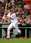 21 August 2009: Washington Nationals' All-Star third baseman Ryan Zimmerman in action against the Milwaukee Brewers at Nationals Park in Washington, DC. Zimmerman hit his career best 25th home run of the season, but the Nationals fell to the Brewers 7-3, in the first game of their four-game series. Mandatory Credit: Ed Wolfstein Photo