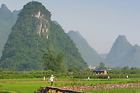 Asie, Chine, Guangxi, Rivière Li, Yangshuo..Photo : Vibert / Actionreporter.com - 33.1.42.52.73.86 - vibert@actionreporter.com