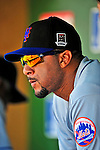 7 June 2009: New York Mets' right fielder Gary Sheffield sits in the dugout during a game against the Washington Nationals at Nationals Park in Washington, DC. The Mets shut out the Nationals 7-0 to take the third game of the weekend series. Mandatory Credit: Ed Wolfstein Photo