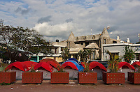 Jacmel, Haiti's fourth largest city, was hard hit by January's 7.0 earthquake. Tents line the central park. The 7.0 earthquake that devastated parts of Haiti on January 12 killed hundreds of thousands of people. January's earthquake killed hundreds of thousands of people and caused significant and lasting structural and economic damage in the Caribbean nation.