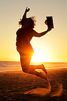 senior, high, school, photo, session, park, beach, sunset, silouette, jump, sand, graduation, graduate, 2014