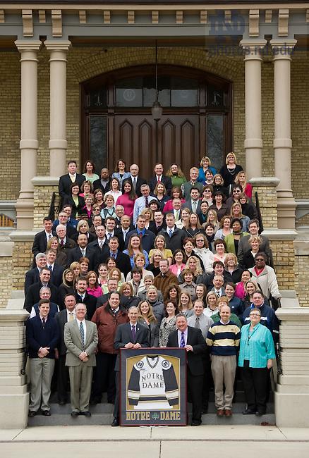 Apr. 18, 2011; Finance division group photo..Photo by Matt Cashore/University of Notre Dame