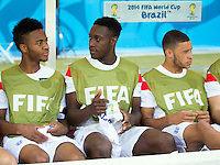 Danny Welbeck and Raheem Sterling of England start on the bench