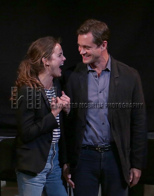Keri Russell and Hugh Dancy taking bows at the Indigo Theatre Project's Benefit Reading of  'An America Daughter'  at The Tony Kiser Theater on May 8, 2017 in New York City.