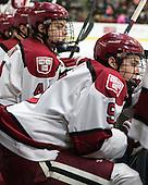 Max Everson (Harvard - 44), Dan Ford (Harvard - 5) - The visiting Brown University Bears defeated the Harvard University Crimson 2-0 on Saturday, February 22, 2014 at the Bright-Landry Hockey Center in Cambridge, Massachusetts.