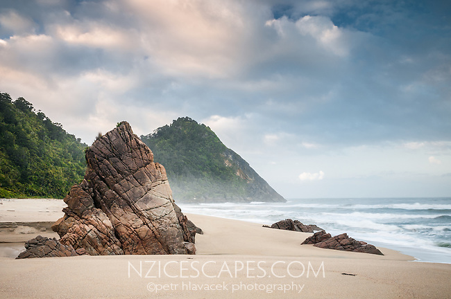 Scotts Beach on Heaphy Track near Kohaihai, Kahurangi National Park, West Coast, New Zealand