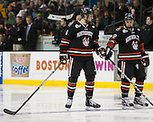 Mike Gunn (NU - 6), Steve Morra (NU - 12) - The Boston College Eagles defeated the Northeastern University Huskies 6-3 on Monday, February 11, 2013, at TD Garden in Boston, Massachusetts.