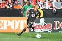 Taylor Kemp (19) of D.C. United during the game. The Columbus Crew defeated D.C. United 2-1 ,at RFK Stadium, Saturday March 23,2013.