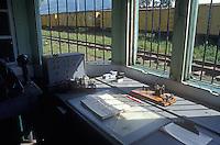 Functioning telgraph at the Sitio del Nino train station in El Salvador, Central America
