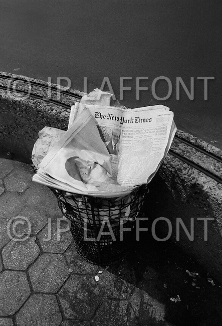 """New York City, NY, June 13th, 1971. The New York Times published the """"Pentagon Papers"""". It was a rush, the newspaper had to print many editions to satisfy the incredible demand."""