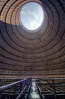 Power station cooling tower interior