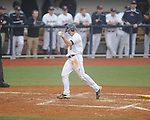 Ole Miss' Auston Bousfield (9) scores vs. Rhode Island at Oxford-University Stadium in Oxford, Miss. on Friday, February 22, 2013. Ole Miss won 8-1 to improve to 5-0.