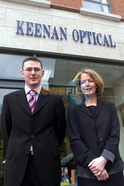 Patrick and Niamh Keenan owners of Keenans Optical opticians in Dyer St..Picture: Arthur Carron/Newsfile