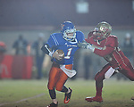 Lafayette High's Keeyon Tyson (36) sacks North Pontotoc quarterback Caleb Mills at William L. Buford Stadium in Oxford, Miss. on Thursday, October 27, 2011.. Lafayette High won 49-7..