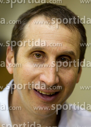 David Blatt, head coach of Maccabi at press conference after the basketball match between KK Krka and Maccabi Electra Tel-Aviv in 1st Round of ABA League, on October 1, 2011, in Arena Leon Stukelj, Slovenia. Maccabi defeated Krka 83-68. (Photo by Vid Ponikvar / Sportida)