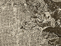 historical aerial photograph Berkeley, California, 1968