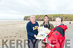 Noel Finucane, Photographer Jason O'Doherty and Grace Flahive launch the Ballybunion 2017 calendar in aid of Ballybunion Sea and Cliff Rescue on Friday