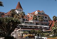 Coronado: Hotel Del Coronado. James, Merritt & Watson Reid, Architects. Late Victorian. NRHP in 1971. 1500 Orange Ave. Built in 1887. Photo '78.