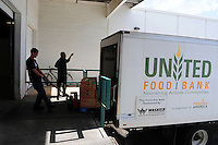 Phoenix, Arizona. October 18, 2012 - United Food Bank is a non-profit organization that gathers and distributes food to agencies and community groups that help individuals in need of food. Arizona is tied as the worst state in the U.S. When it comes to child hunger. As the amount of food donations decreases, food banks such as the United Food Bank strive to keep up with hunger relief needs of 1 in 5 (20%) of Arizonans who are living in poverty and, based on figures of the Department of Health and Human Services. Photo by Eduardo Barraza © 2012