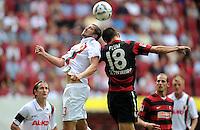 FUSSBALL   1. BUNDESLIGA  SAISON 2011/2012   1. Spieltag FC Augsburg - SC Freiburg            06.08.2011 Sascha Moelders (li, FC Augsburg) gegen Johannes Flum (re, SC Freiburg)