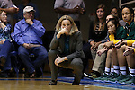 08 November 2015: Saint Leo head coach Missy West. The Duke University Blue Devils hosted the Saint Leo University Lions at Cameron Indoor Stadium in Durham, North Carolina in a 2015-16 NCAA Women's Basketball Exhibition game. Duke won the game 116-33.