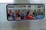 Vagões do metro. São Paulo. 2007. Foto de Juca Martins.